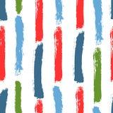 Pinceladas del color del cepillo de la acuarela Modelo inconsútil con las rayas verticales Fotografía de archivo libre de regalías