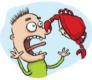 Pincement de crabe Image libre de droits