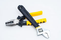 Pincer pliers and wrench Royalty Free Stock Image