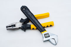Pincer pliers and wrench Royalty Free Stock Photos