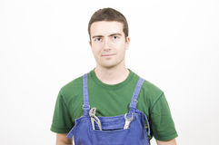 Pincer wrench mechanic overalls Royalty Free Stock Photo
