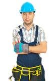 Pincers för Constructorarbetarholding Royaltyfria Bilder