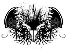 Pincers Grunge. Pincer grunge design, includes hand drawn elements, black and white Stock Photos