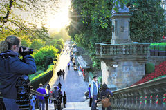 Pinces街庭院在爱丁堡,苏格兰,英国 免版税图库摄影