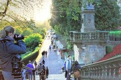 Pinces街庭院在爱丁堡,苏格兰,英国 免版税库存照片