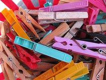 Pinces à linge Photo stock
