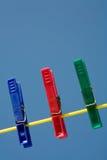 Pinces à linge Image stock