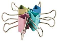 Pinces à linge colorées de bureau Image stock