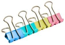 Pinces à linge colorées de bureau Image libre de droits