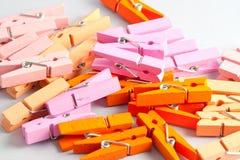 Pinces à linge en bois Photographie stock