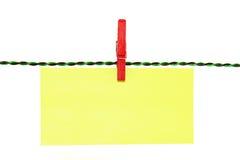 Pinces à linge stationnaires Image stock