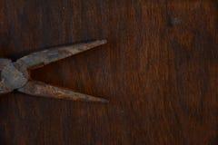 Pinces de nez d'aiguille tirées d'en haut photographie stock libre de droits