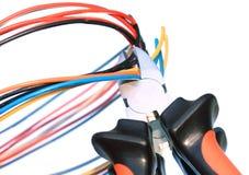 Pinces et câbles de découpage Photographie stock