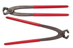 Pinces pour coupler la valve Photo stock