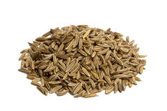 Pinch de sementes de alcaravia Imagens de Stock