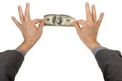 Pinch do dinheiro Foto de Stock