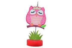Pinch Paper Clip Owl Model Royalty Free Stock Image