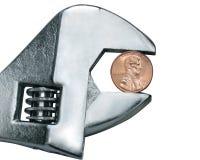 Pincher da moeda de um centavo Imagem de Stock Royalty Free