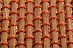 Pincho de bambú de Brown con textura de la secuencia Imagen de archivo libre de regalías
