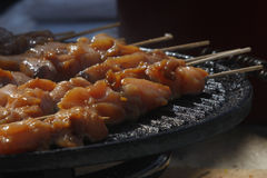 Pincho moruno. Grilled meat. Tipical Spanish gastronomy Royalty Free Stock Photography