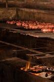 Pinchos asados a la parilla de la carne Fotografía de archivo libre de regalías