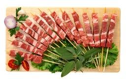 Pinchos de la carne Fotografía de archivo