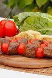 Pinchos de la carne Foto de archivo