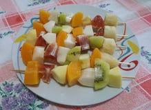 Pinchos de la fruta Imagen de archivo libre de regalías
