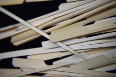 Pinchos de madera del kebab Fotografía de archivo