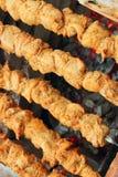 Pinchos del pollo Fotos de archivo