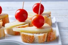 Pinchos manchego cheese cherry tomatoes Stock Photos