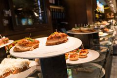 Pinchos on a plate Stock Photos
