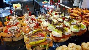 Pinchos in restaurant in Bilbao royalty-vrije stock foto