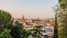 从Pincio,罗马,意大利的全景 免版税图库摄影