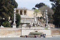 Pincio in Rome Royalty Free Stock Images