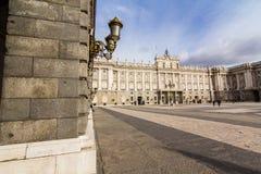 pincipal kunglig sida spain för madrid slott Royaltyfri Foto