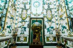 pincipal kunglig sida spain för madrid slott Arkivbild