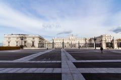 pincipal kunglig sida spain för madrid slott Royaltyfri Bild