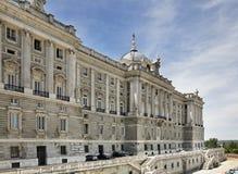 pincipal kunglig sida spain för madrid slott spain Arkivfoto