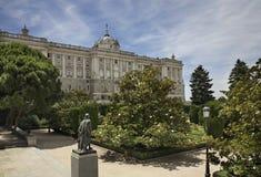pincipal kunglig sida spain för madrid slott spain Royaltyfria Bilder