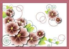 Pinck blommor Fotografering för Bildbyråer