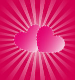 Pinck Hearts Royalty Free Stock Photos