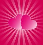 Pinck Hearts royalty free stock photos