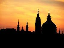 Pináculos de Praga Fotografia de Stock