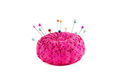 Pincushion. Close up picture of pincushion with pin royalty free stock images