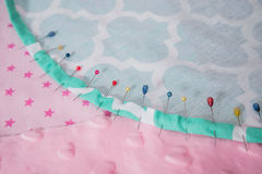 Pincushion with lot of needles and pins for sewing Stock Photography