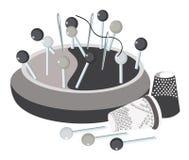 Pincushion, pins, thread a needle Royalty Free Stock Photos