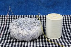 Pincushion and thread. This is pincushion and thread Stock Image