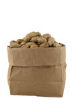 Pinda's in een zak stock afbeelding