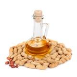 Pinda's en olie in fles Stock Foto